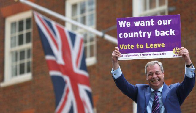 Foto: Unu din patru britanici ar vota pentru noul partid Brexit al lui Farage