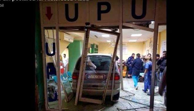 Foto: Bărbatul care a intrat cu maşina în UPU a Spitalului Judeţean, pus sub control judiciar
