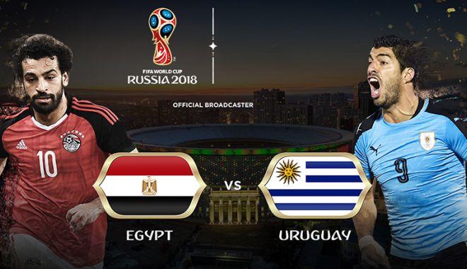 Foto: CM 2018 / EGIPT 0-1 URUGUAY. Gimenez i-a salvat sud-americani in minutul 90