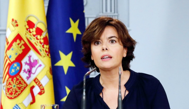 """Foto: Vicepremierul spaniol: """"Procesul de independenţă a Cataloniei a fost un fals"""""""