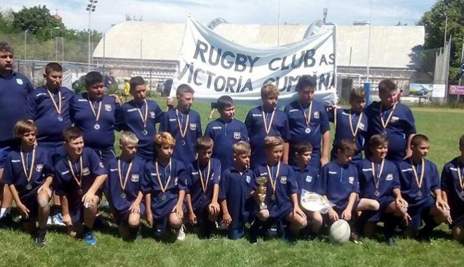 Foto: Victoria Cumpăna, finalistă în etapa a doua a Circuitului Naţional de mini-rugby