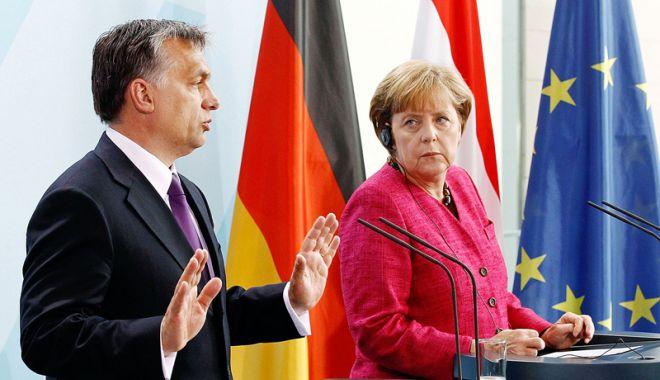 Foto: Premierul Ungariei, Viktor Orban, întâlnire cu Angela Merkel