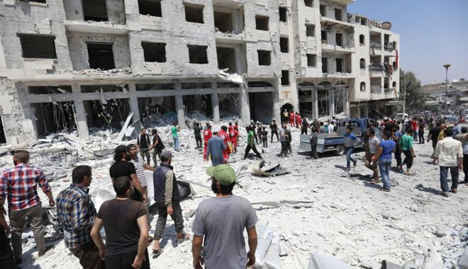 """Foto: """"Violenţele la Idlib încalcă dreptul internaţional"""""""