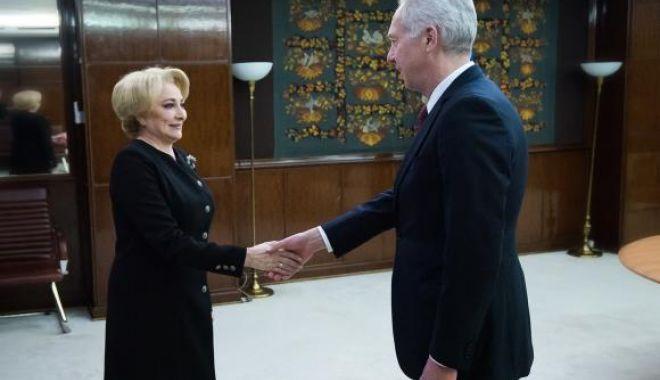 Foto: Viorica Dăncilă, întâlnire cu Hans Klemm, la Guvern