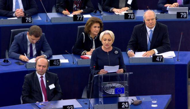 Foto: Viorica Dăncilă, în Parlamentul European: