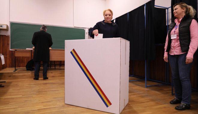Foto: Viorica Dăncilă, după vot: Cine se scoală de dimineață ajunge departe