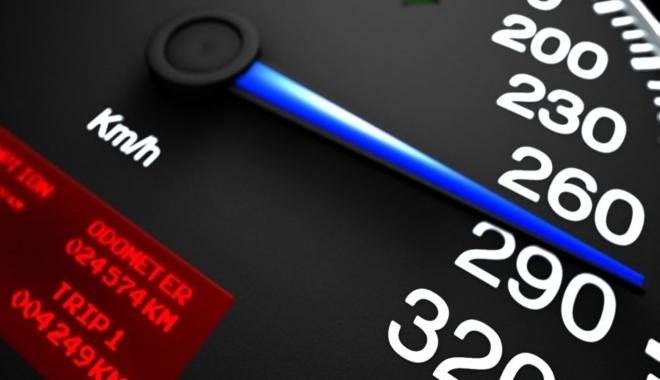 Foto: Viteză record pe autostradă! Iată ce a păţit şoferul teribilist