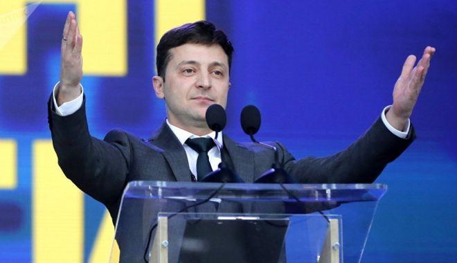 Foto: Volodimir Zelenski, învestit în funcţia de preşedinte al Ucrainei