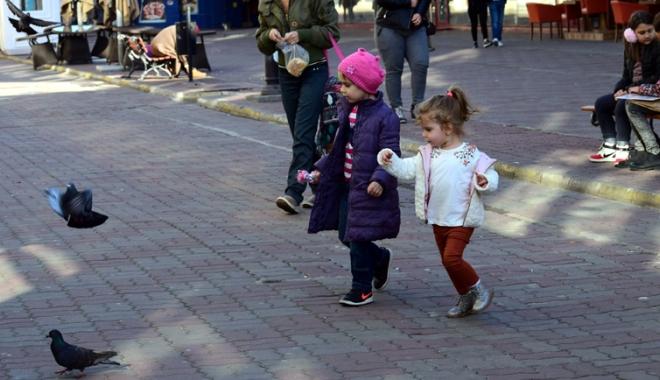 Foto: Cer senin  şi vreme rece, la Constanţa