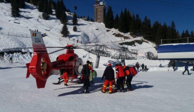 Foto: GRAV ACCIDENT pe pârtia de la Cota 1400 din Sinaia