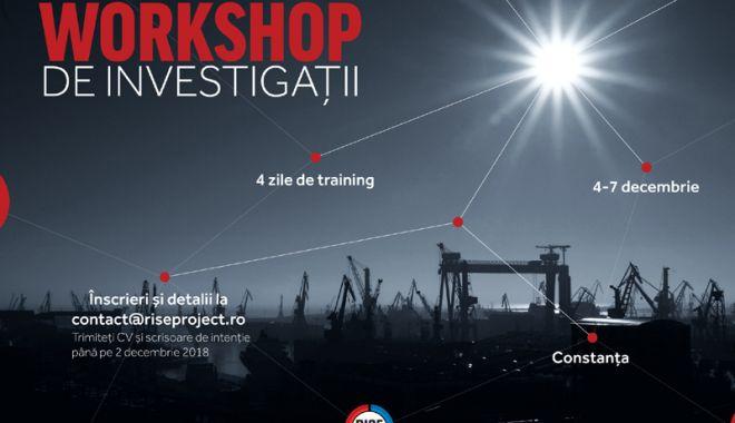 """Foto: Workshop de investigații susținut de RISE Project pentru studenții de la """"Ovidius"""""""
