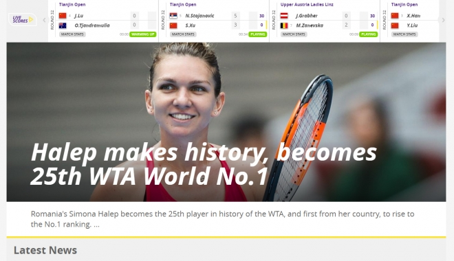 Foto: VIDEO / Videoclipul dedicat de WTA Simonei Halep