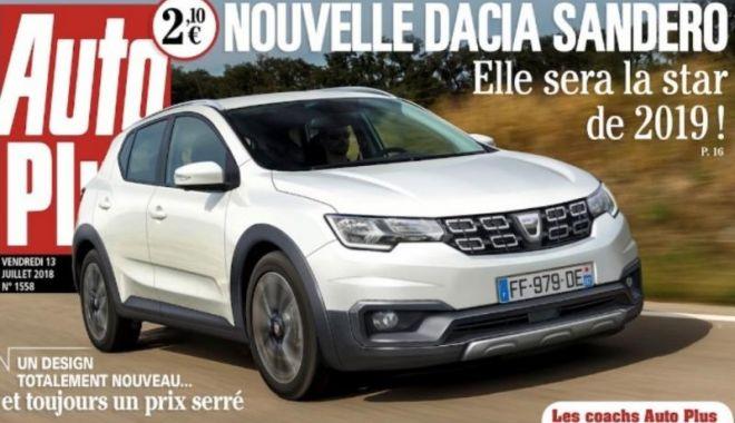 Foto: Prima imagine cu noua Dacia Sandero, publicată de presa franceză