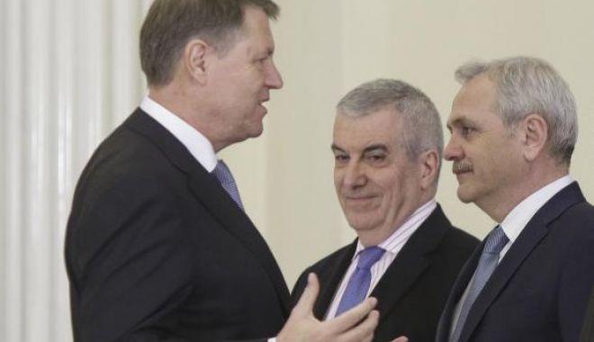 Foto: Iohannis îi răspunde lui Dragnea: Asta cu suspendarea devine aşa un loc comun. Nu mi-a fost şi nu-mi e teamă nici de CCR
