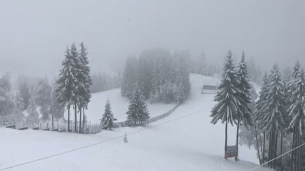 Foto: Paşte cu zăpadă. Ninsori abundente în mai multe staţiuni