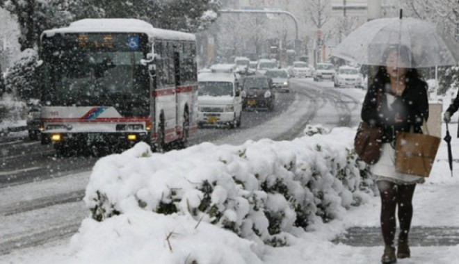 Foto: Premieră în ultimii 45 de ani: Condiţii meteorologice excepţionale în Japonia