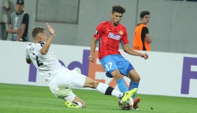 Foto: Fotbal / FCSB încheie Grupa G pe doi, după 1-2 cu Lugano, în Liga Europa