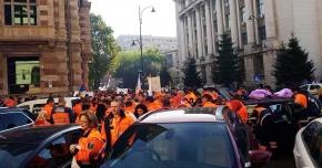 GALERIE FOTO / Reprezentanţi ai SAJ Constanţa, prezenţi la mitingul din Capitală.