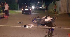 TRAGEDIE LA CONSTANŢA. Un motociclist fără permis a murit lovit de o maşină condusă de un şofer beat