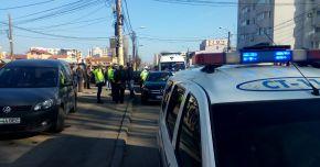 Galerie foto. ACCIDENT RUTIER LA CONSTANŢA! Un şofer beat criţă a lovit un autoturism şi un autobuz RATC