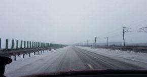 ATENȚIE ȘOFERI! Autostrada A2, închisă de drumari din cauza ploii înghețate
