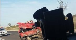 ACCIDENT RUTIER PRODUS DE UN ŞOFER BEAT, PE DN3