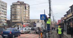 VIDEO. Trecerea de pietoni de pe strada Soveja, în dreptul Pieţei Tomis 3, semaforizată