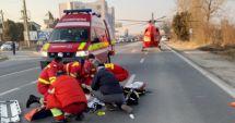 GALERIE FOTO / Accident rutier grav la Mangalia. Intervine elicopterul Smurd