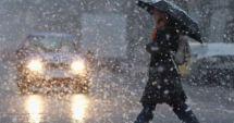 COD GALBEN de vreme severă: Ploi, lapoviţă, vânt şi ninsori. Harta judeţelor afectate de intemperii