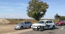 GALERIE FOTO. Accident cu trei maşini la ieşire din Constanţa!