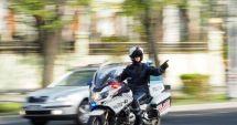 Poliţist pe motocicletă, accidentat de un şofer neatent