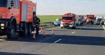 GALERIE FOTO / Accident cu cinci victime pe A1. Circulaţia, oprită