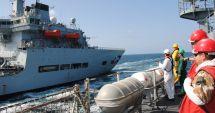 Premieră româno-franceză în Marea Neagră. Forţele Navale române au alimentat o navă franţuzească