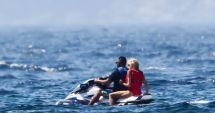 Soţia preşedintelui francez, singură în vacanţă la mare, cu bodyguardul