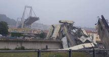 Un pod-autostradă, înalt de 100 de metri, s-a prăbuşit în Genova.  Autorităţile încearcă să găsească eventuali supravieţuitori