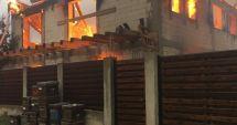 FOTO. Incendiu puternic, în această dimineață, în județul Constanța