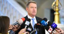 Preşedintele Klaus Iohannis, declaraţie la ora 11.00