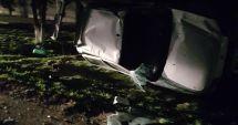 ACCIDENT RUTIER LA CONSTANŢA! Maşină răsturnată! Şoferul a fugit de la locul faptei
