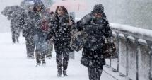 A VENIT IARNA ÎN ROMÂNIA! Strat de zăpadă de 3 centimetri