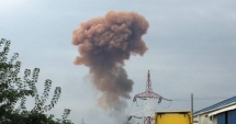 Nor de fum roşiatic deasupra municipiului, exact la un an de la apariţia unui fenomen similar