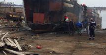 GALERIE FOTO / Incendiu în Dana 89 din Portul Constanța.