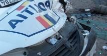 ACCIDENT RUTIER LA CONSTANŢA / Maşina poliţiei, avariată de un şofer fără permis