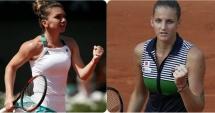 Tenis / Simona Halep - Karolina Pliskova se va disputa miercuri, după ora 06.00