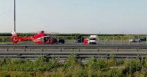 ACCIDENT RUTIER GRAV pe Autostrada Soarelui. Un copil a FOST RĂNIT. Intervine elicopterul SMURD