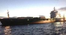 Un cargou a eşuat la Porto Nogaro