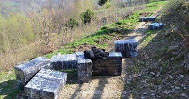 Poliţiştii români, în acţiune! Aproximativ 18.000 pachete țigări, confiscate la frontieră