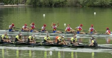 Canotaj / Echipajul feminin de 8+1 al României, aur la Cupa Mondială de la Lucerna