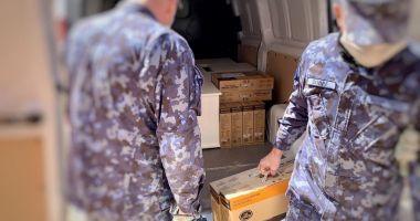 Spitalul Modular Militar de pe stadionul Portul a primit echipamente!