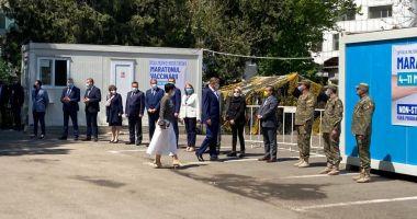 Preşedintele Klaus Iohannis, aşteptat de oficialităţile locale şi judeţene, la Spitalul Militar Constanţa