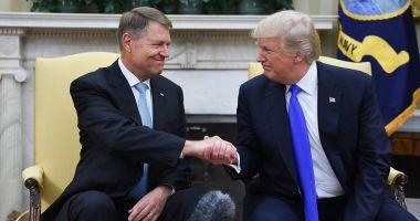 Klaus Iohannis se întâlneşte cu preşedintele SUA, Donald Trump